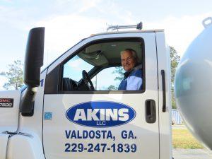 Akins Truck w Driver